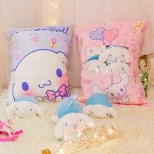 A bag of 4pcs  cat & 4pcs melody rabbit small toy Stuffed plush japan anime figure doll Creative cushion Cinnamoroll Pillow