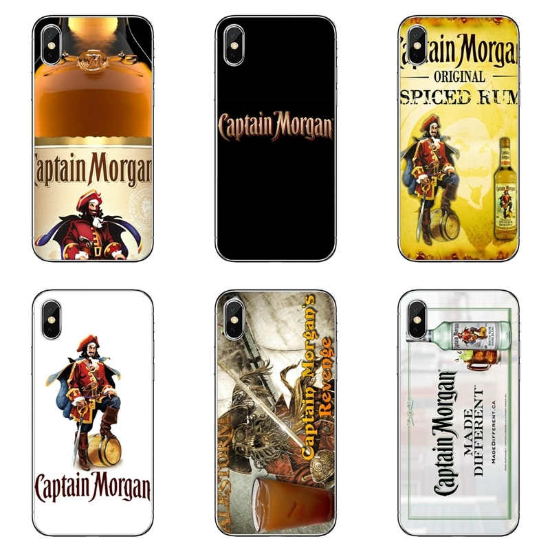 Capitán Morgan negro Ron caso de teléfono para Samsung Galaxy A6s A6 A8 más A9s star lite A3 A5 A7 2016, 2017, 2018, cubierta suave