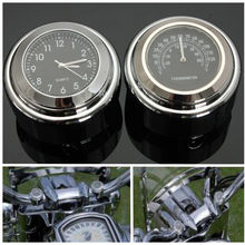 Stuur Klok Thermometer Motorfiets Horloge Voor Haley Regenjassen Chrome Temps