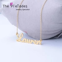 2020 new customized name necklace personalized letter pendent jewelry gold plated nameplate for women 925 silver jewelry