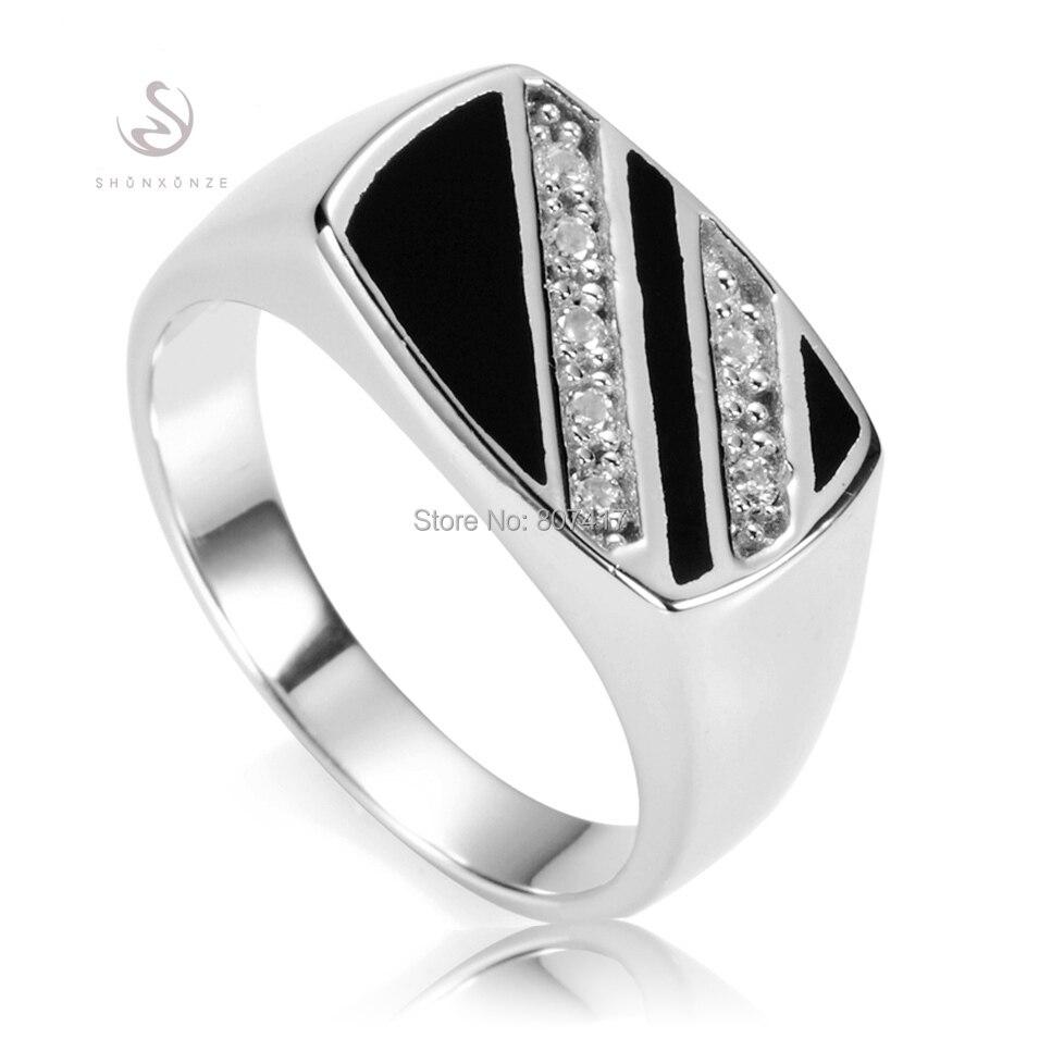 Anillo de Plata de Ley 925 Eulonvan vintage para hombre, joyería y accesorios de resina negra, S-3777 tallas 7 8 9 10 11 12 13