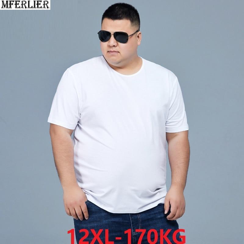 Мужские летние футболки с коротким рукавом, большие размеры, распродажа, мужская повседневная футболка 8XL 10XL 12XL, простая домашняя однотонна...
