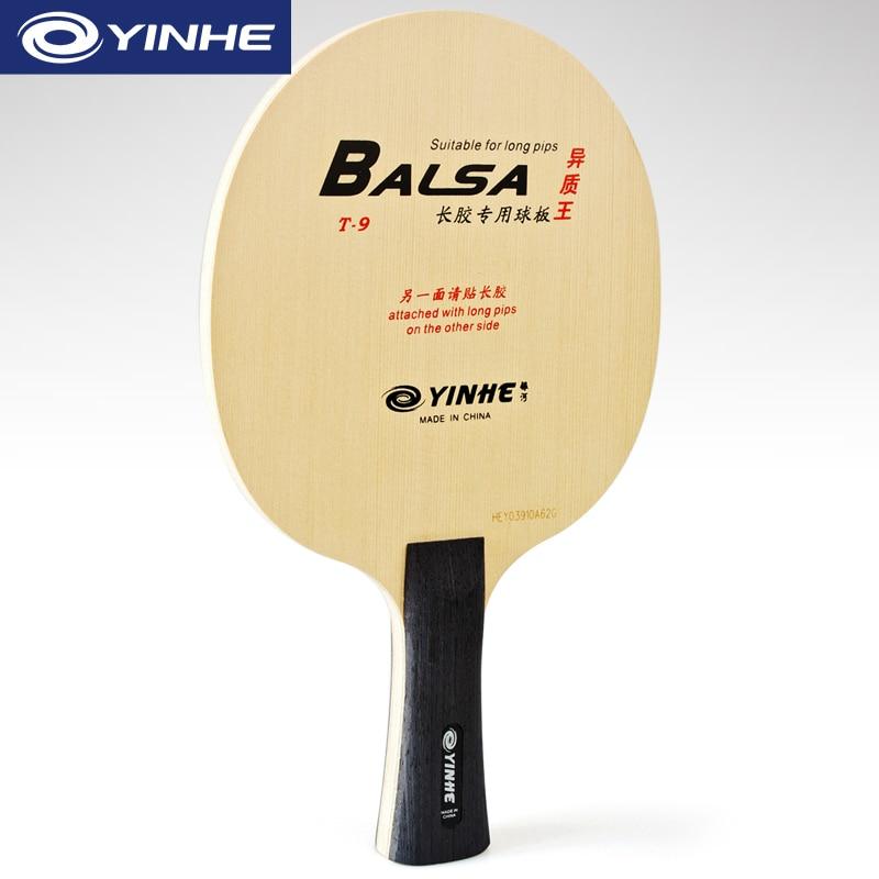 Raqueta de tenis de mesa genuina Yinhe Galaxy T-9 Pro de madera con Base de raqueta de Ping Pong de carbono diseñada para picos largos