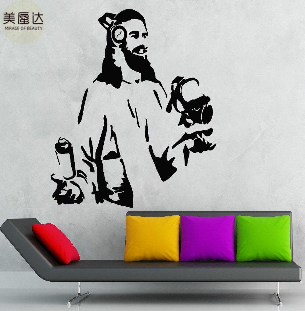 Jesús pegatinas de pared Etiqueta de vinilo de sala de estar adolescente Dios decoración moderna para habitación