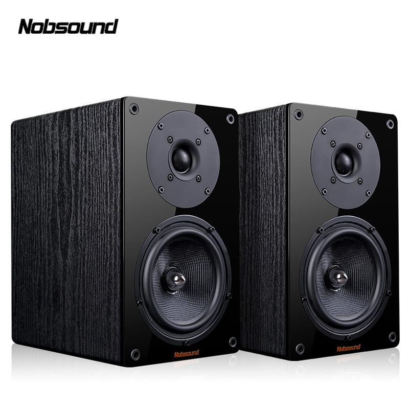 Nobsound NS-1900 الخشب 100 واط 1 زوج 5.5 بوصة رف الكتب مكبرات الصوت 2.0 HiFi العمود الصوت المنزل المهنية المتكلم