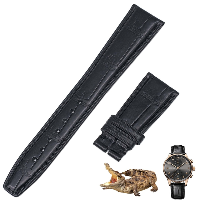 Applicable to all countries Portugal timing series American crocodile leather watch belt IW371446