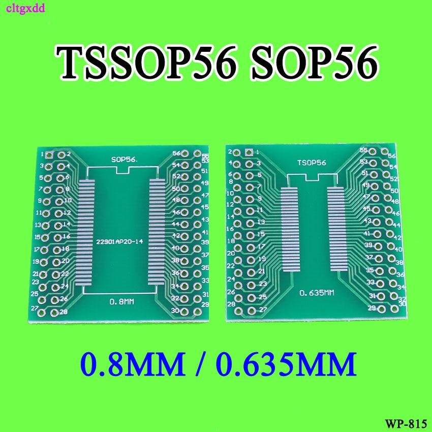 Cltgxdd 5 piezas TSOPII TSSOP56 Placa de conversión 0.635mm/0,8mm paso SDRAM Placa de adaptador