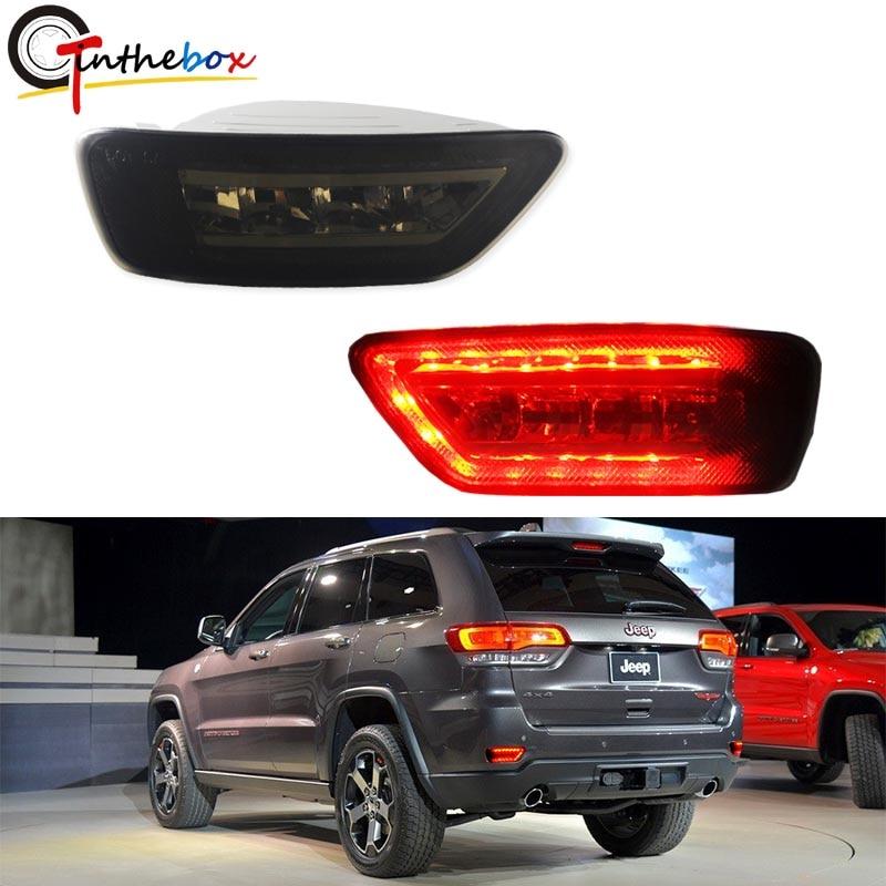 مجموعة إضاءة الضباب الخلفية مع مصابيح LED ، مصابيح الضباب الخلفية ، Wirings لـ Jeep Grand Cherokee WK2 ، Compass and Dodge Journey ، 2011-up