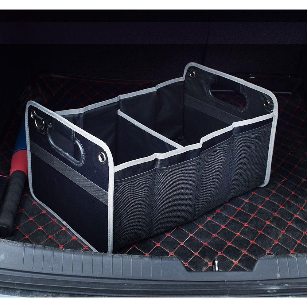 Plegable bolsa de almacenamiento de maletero caja del logotipo del coche de carga organizador para VW Volswagen Toyota Peugeot Mazda Lexus Jagaur Hyundai Audi Benz Diamant