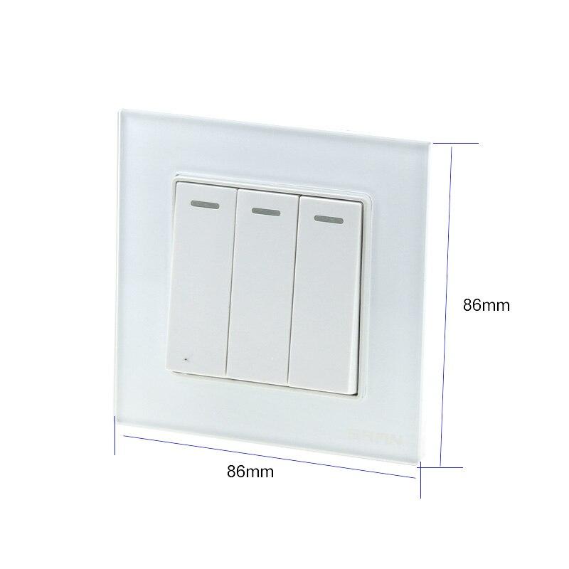 Hohe qualität elektriker wand dreibettzimmer öffnen einzigen steuer schalter tastatur typ 86 drei-position licht power switch panel