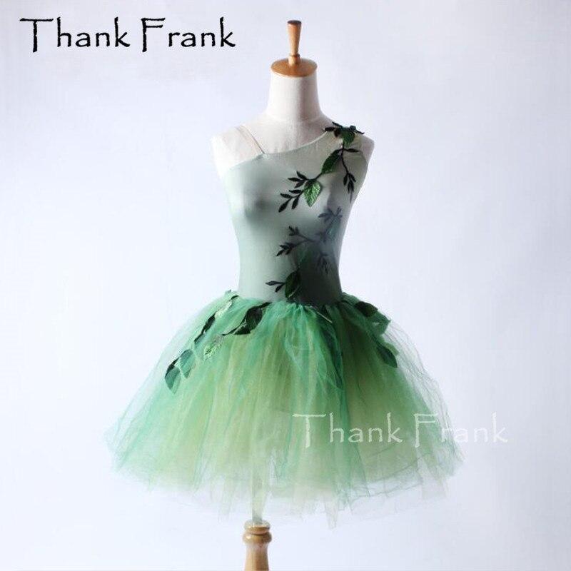 فستان رقص باليه توتو للأطفال والكبار ، زي رقص مع خط رقبة بكتف واحد ، موديل C294