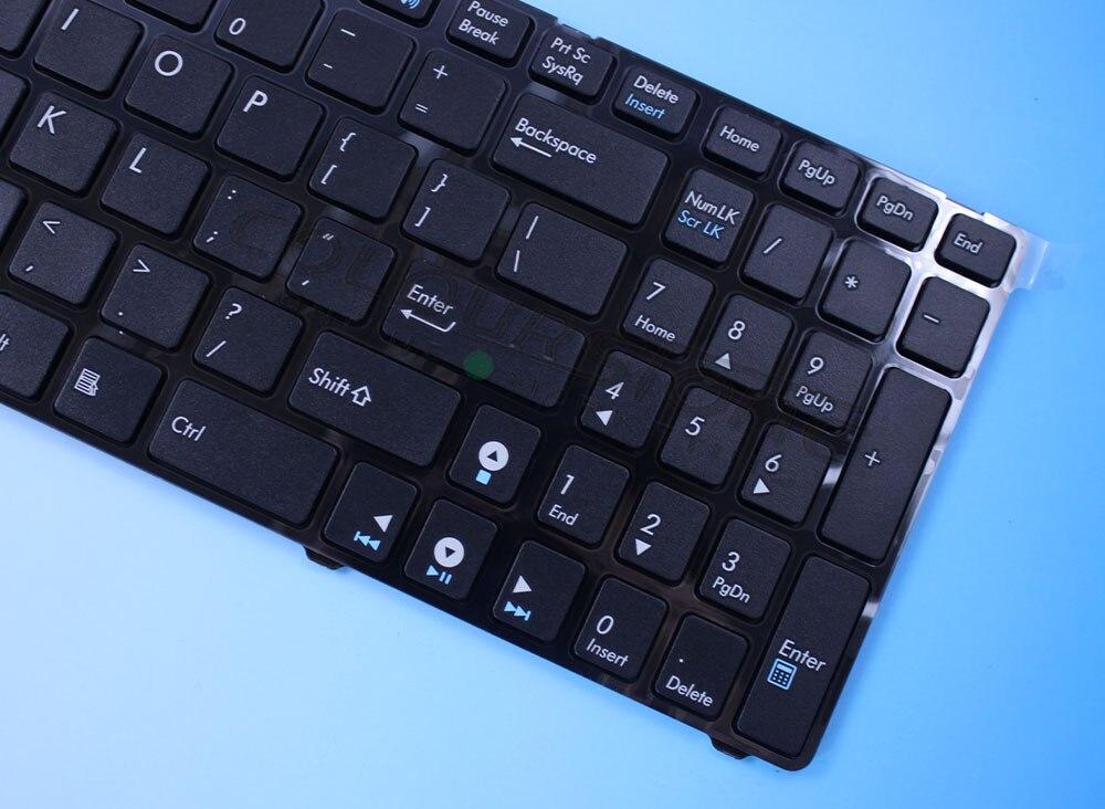 Brand New Laptop Keyboard For Asus K52 N61 G60 G73 U50 UL50 N61W N61J K53 A52 US BLack Laptop Keyboard  MP-09Q33US