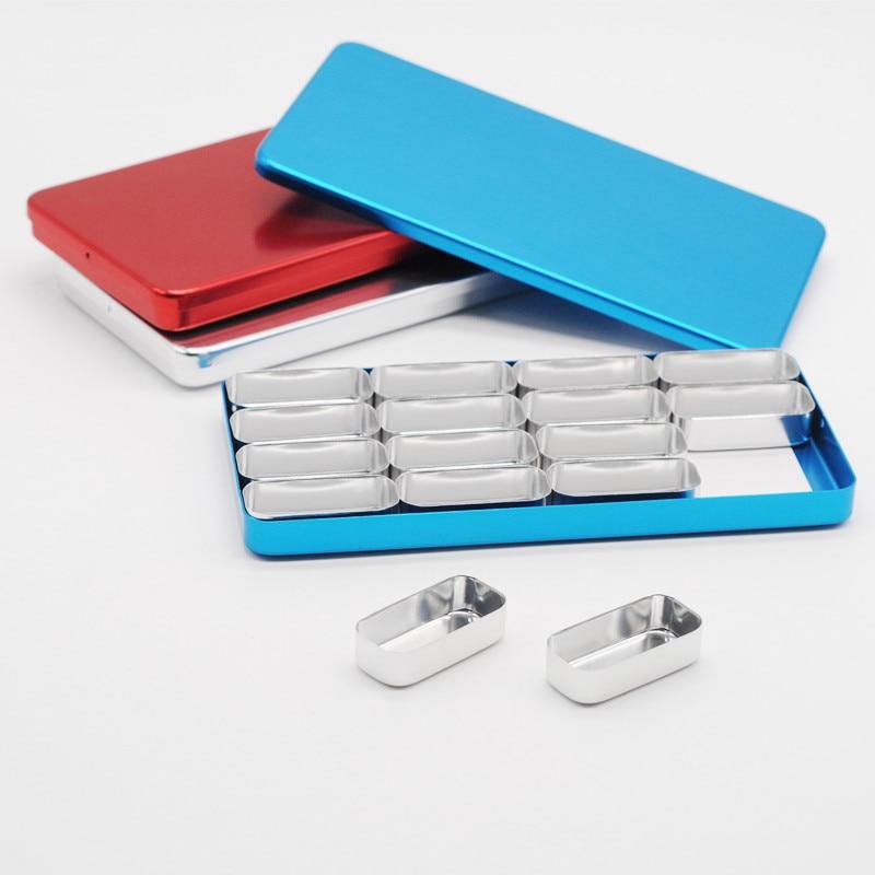 16 Racks Dental Lab Supplies Box for Bur H /K Files Holder Block Sterilizer Case Disinfection Endo Box