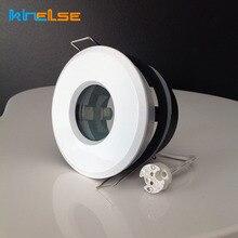 Spot de LED blanc IP65 étanche douche encastré lumières raccord rond porche salle de bain utilisation GU10 MR16 Base plafonnier intégré