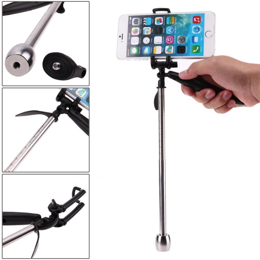 2in1 bolsillo estabilizador de mano vídeo Steadycam soporte de cámara para Gopro para Xiaomi yi para cámara SJCAM para Smartphones
