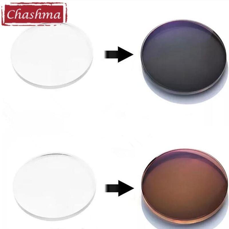 Chashma-عدسات فوتوكروميك ، مضادة للأشعة فوق البنفسجية ، عاكسة ، 1.67 مؤشر الحرباء ، جودة خفيفة للغاية