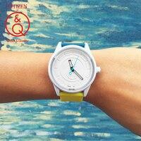 Citizen Q&Q watch men Set top Luxury Brand Waterproof Sport Quartz solar men Watch Neutral watch Relogio Masculino reloj 8J807Y