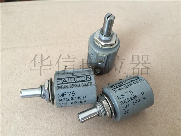 ضمان جودة MF78 0.2% 20 كيلو 10 دائرة بدوره wirewound الجهد رمح قطرها 6 ملليمتر (التبديل)