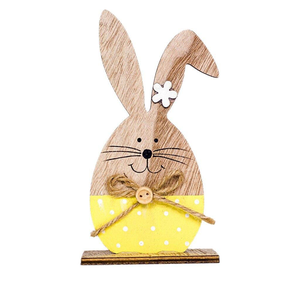 Новинка 2019, модные пасхальные украшения, деревянный Пасхальный милый кролик, 2 вида, с пасхальными яйцами, лента, стенд, украшение, сделай сам, Zakka