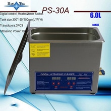Limpiador ultrasónico digital, dispositivo con temporizador y calentador, cesta gratis, 6Ldental, AC110V/220V, 40KHz