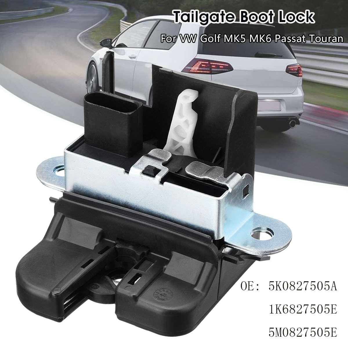 Couvercle de serrure de porte de hayon de serrure de coffre arrière de voiture pour VW Golf MK5 MK6 Touran 5K0827505A 1K6827505E 5M0827505E 1P0827505D
