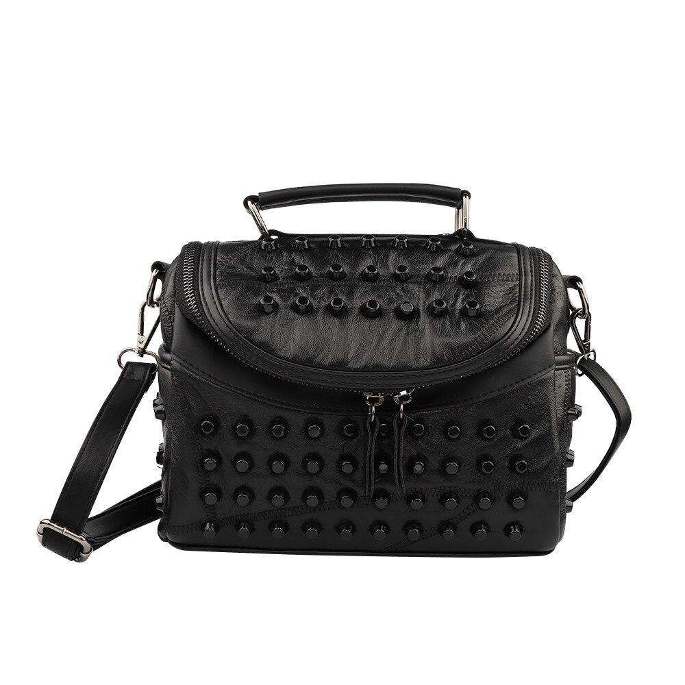 Las mujeres bolso de cuero de piel de oveja de mensajero Bolsos Mujer bolsos marcas famosas de mujer, bolso de hombro, bolsa de saco # Zer