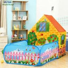 Akitoo 126, recién llegado, súper grande, tienda de jardín para niños, casa de juegos para interior y exterior, tienda de juguete de princesa y pelotas para el océano
