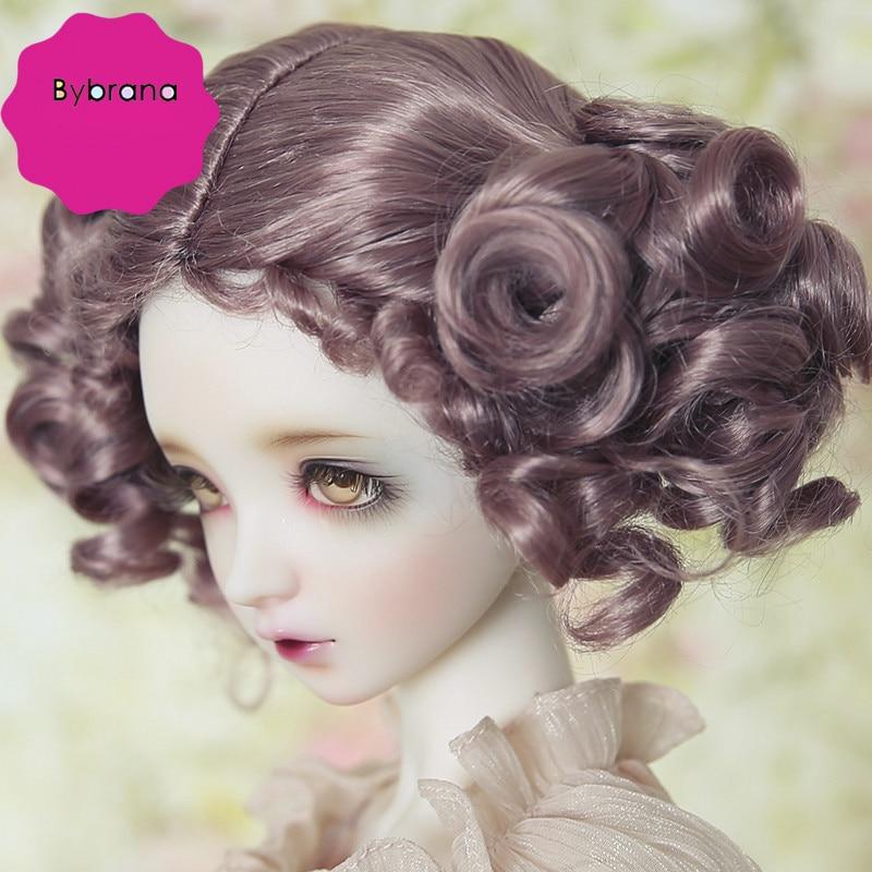 Bybrana 1/3 1/4 1/6 1/8 BJD искусственные волосы, синтетический мохеровый SD кукла sd16 sd10 sd13 yosd msd