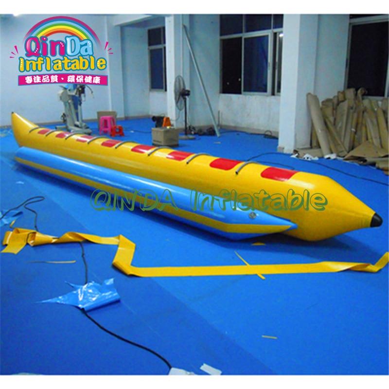Tubos de esquí inflables del barco del plátano, deportes remolcables del agua Flyingfish barco del plátano, tubos inflables del plátano del agua