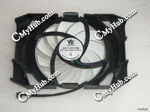 Genuino para Inno3D GTS450 GTX550TI GTX650 GTS250 HD5770 DC12V 0.35A 4Pin 4 Alambre de ventilador de refrigeración TK CF-12915B