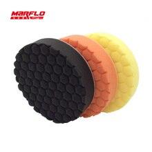 Tampon éponge de polissage de soin de peinture de voiture enlever modéré pour les polisseurs rotatifs et DA utilisent MARFLO de haute qualité par brillatech