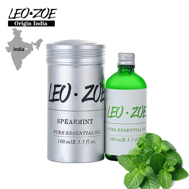 LEOZOE Spearmint Essential Oil Certificate Of Origin India High Quality Authentication Spearmint Oil 100ML Oleo Essencial