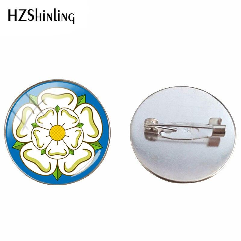 El antiguo místico Rosae Lancashire diseño de Rosa y Yorkshire Rose Folk estampado artístico broche joyería alfileres regalos hechos a mano