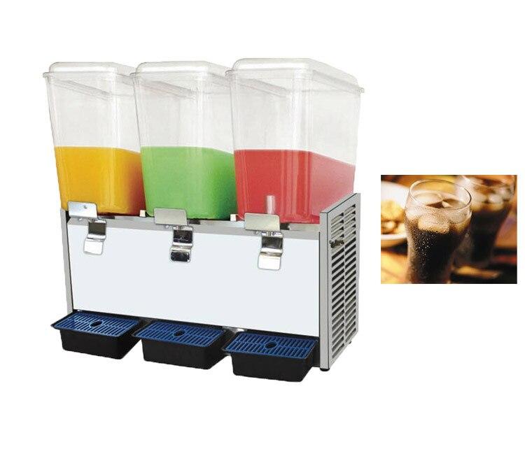 Máquina de fabricación de bebidas frías y calientes, 3 tanques, dispensador de zumo de agua
