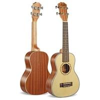 21 inch soprano ukelele 4 strings uku ingman spruce guita acoustic small guitar ukulele professional uke concert