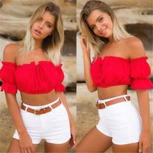 New Sexy Womens Crop Tops Ladies Off Shoulder Summer Tops Wear Frill Bralet Bandeau Boobtube Tops