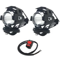 smkc01 2pcs motorcycle lighting u5 3000lm 125w upper low beam motorcycle head light led driving motorbike lamp with switch