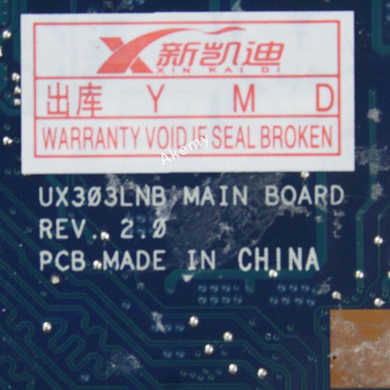 AK UX303LB Laptop motherboard For Asus UX303LB UX303LNB UX303LN UX303LA UX303L Test original mainboard 4G RAM I7-5500U GT940M