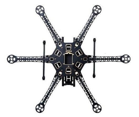 HMF S550 PCB, tablero central de fibra de carbono, tren de aterrizaje, hexacóptero teledirigido, bastidor de seis ejes, Marco multicóptero (versión actualizada F550)