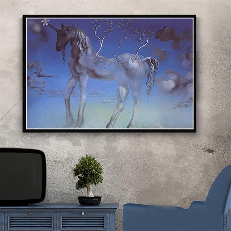 Cuadro sobre lienzo para pared, decoración del hogar, Imagen Retro psicodélica de Salvador Dalí, impresiones, póster de estilo nórdico Modular para sala de estar