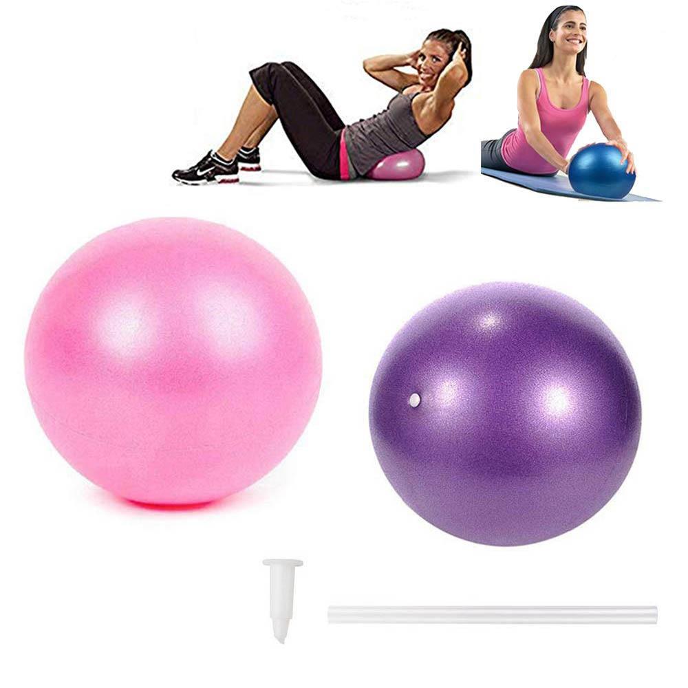 Mini pelota para ejercicios de Yoga pequeño ejercicio pelotas de pilates con inflable de paja de PVC 25cm Yoga Bola de masaje gimnasio a la estabilidad de la formación