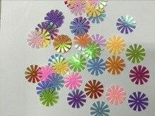 40 g/lote flor lantejoulas 15mm pvc lantejoulas grandes lantejoulas decoração costura diy mix ab brilhando cores belo sol flor girassol