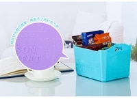 desktop storage box solid color relief without cover cosmetic storage box debris storage box
