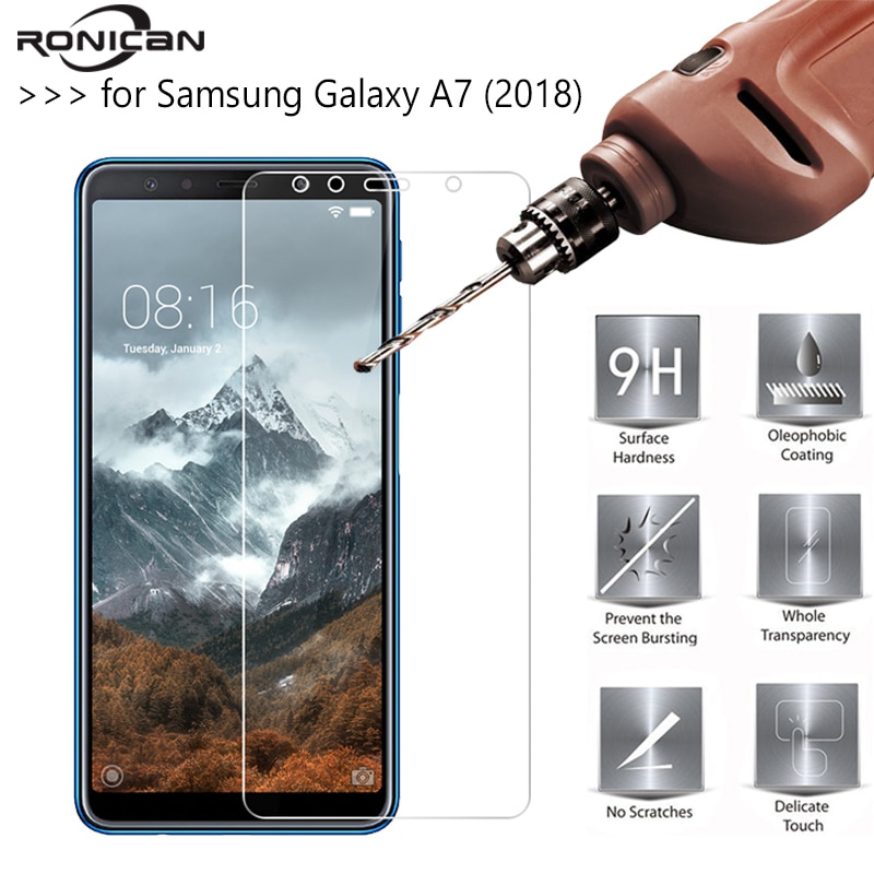2.5D 0.26mm 9H Premium Tempered Glass For Samsung Galaxy A7 (2018) Screen Protector protective film