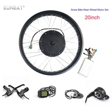 KUNRAY Electric Fat Bike Motor Rear Wheel 20inch, 48V 1000W Electric Bicycle Conversion Kit, Snow E-Bike Hub Motor, KT Display