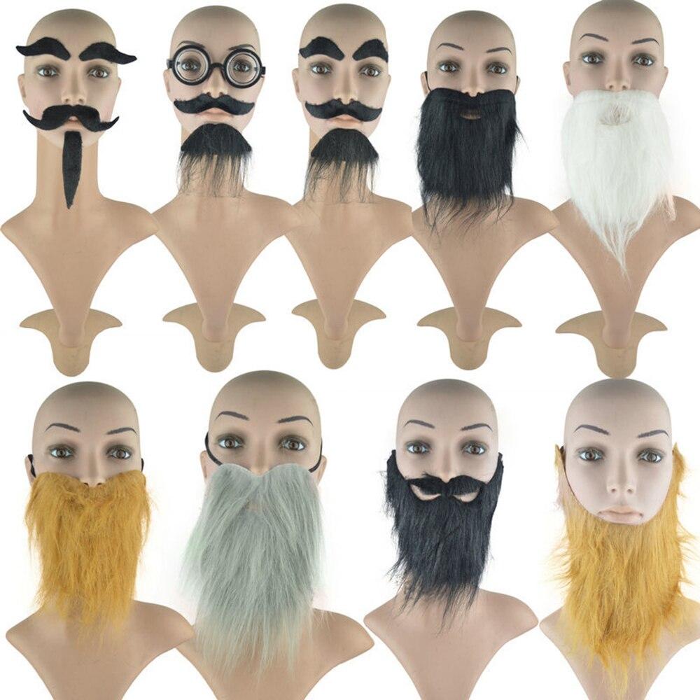 Accesorios para mascarada fiesta de vacaciones vestir barba falsa simulación barba ocho personaje barba hombre barba Props fiesta