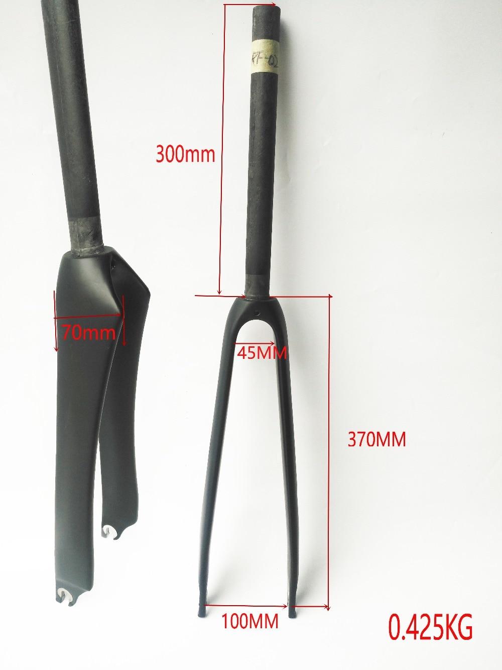 Stock EARREL   700C Road bicycle  UD matte/glossy Carbon  forks Fixed Gear bike carbon forks Track bike carbon front forks