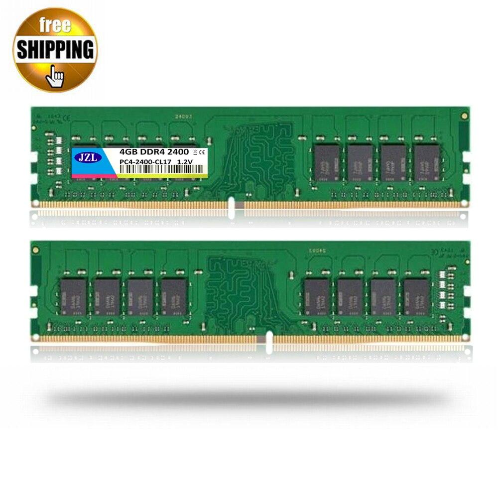 Jzl LONG-DIMM PC4-19200 DDR4 2400 ميجا هرتز 4 جيجابايت/pc4 19200 ddr 4 2400 ميجا هرتز 4 جيجابايت LC17 288-PIN الكمبيوتر المكتبي pc ram ذاكرة dimm