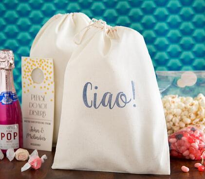 ¡Texto personalizado Ciao! Italiano boda resaca Kit bolsas de regalo de bienvenida despedida de soltera bajo regalo de fiesta de despedida de solteros bolsa