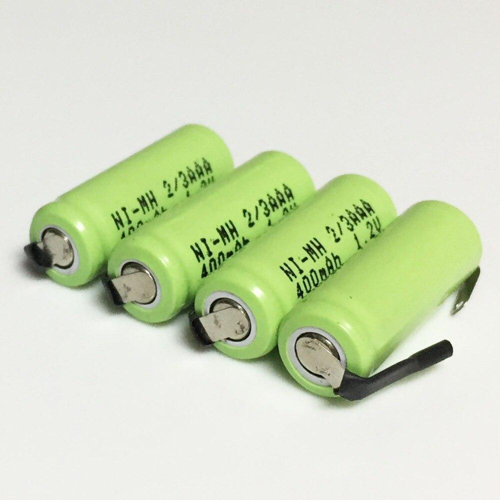 5-10 шт. 1,2 в 2/3AAA аккумуляторная батарея 400 мАч 2/3 AAA Ni-MH сотовый плоский верх для diy электробритва бритва беспроводной телефон